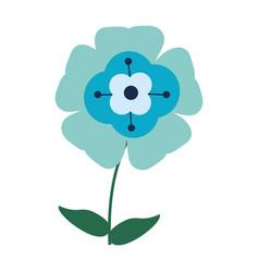 Flower flourish natural vector
