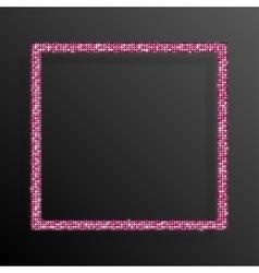 Frame Pink Sequins Square Glitter sparkle vector