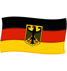 german flag graphic vector image