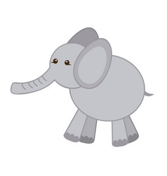 gray elephant icon stock vector image