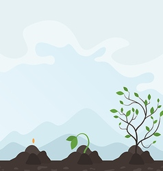 Growth of a plant2 vector