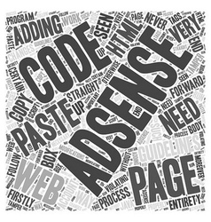 Guidelines for adding the AdSense code to your web vector