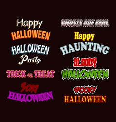 Halloween Text Styles vector image