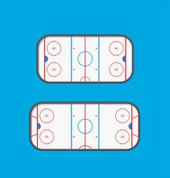 hockey type rinks vector image