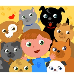 I love dogs vector image vector image