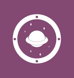 Icon saturn orbit vector