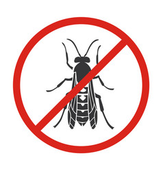 Insect yellowjacket iconblack icon vector