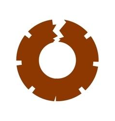 Isolated broken gear design vector