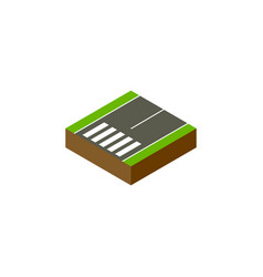 isolated footer isometric footpassenger vector image