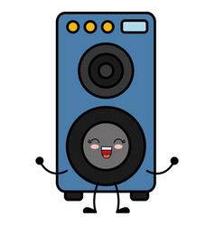 Kawaii sound speaker icon vector