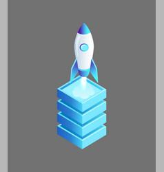 Launching spaceship rocket vector