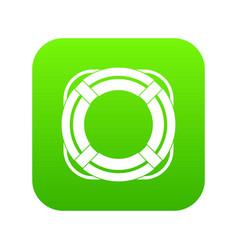 Lifebuoy icon digital green vector