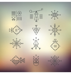 Line shapes geometry Alchemy religion vector