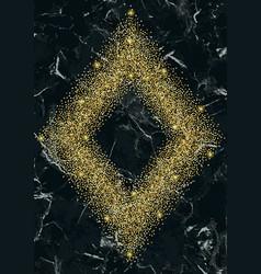 luxury gold glitter frame vector image