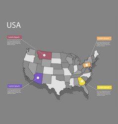 map usa concept vector image