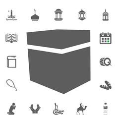 mecca kaaba stone icon ramadan kareem eid vector image