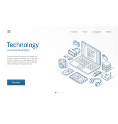 modern wireless technology isometric vector image