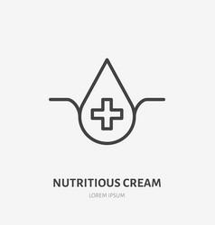 Moisture line icon pictogram nutritious vector