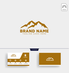 mountain initial m logo template and business vector image