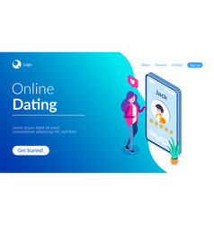 online dating concept young girl evaluates the vector image