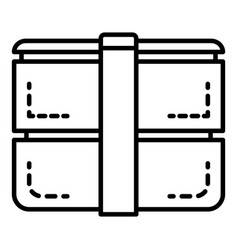 outdoor lunchbox icon outline style vector image