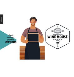 Owners - small business graphics - wine house vector