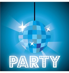 Party light over blue background vector