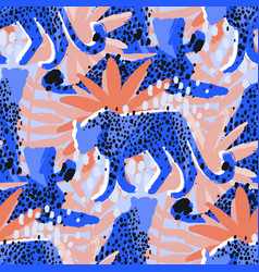 Pattern of cheetahs surrounded by exotic vector