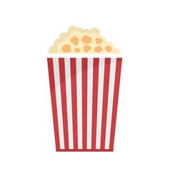 Popcorn box icon flat style vector