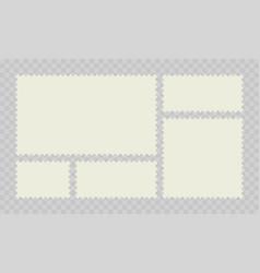 postage stamp post or postcards vector image