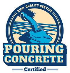 Pouring concrete logo vector