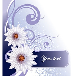 Purple Floral Background with Text Space vector