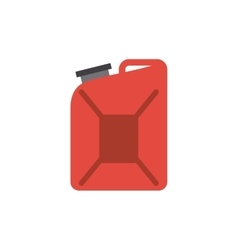 Red gallon icon vector