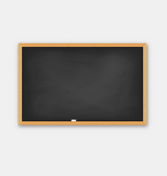 school blackboard wooden frame vector image