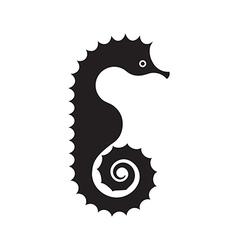 Seahorse Silhouette vector image