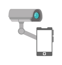 security camera system vector image