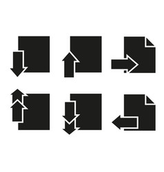 set of pages icons paper last next vector image