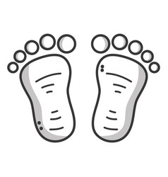 Silhouette beauty baby footprint design icon vector