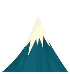 Snowy mountain icon vector