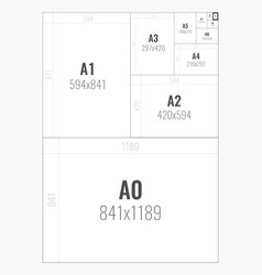 Standard paper sizes a series from a0 to a10 vector