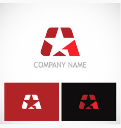 Star letter a company logo vector