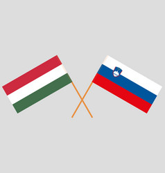 The slovenian and hungarian flags vector
