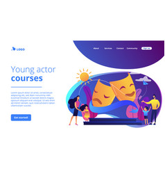 Theater camp concept landing page vector