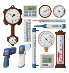 thermometer on white vector image