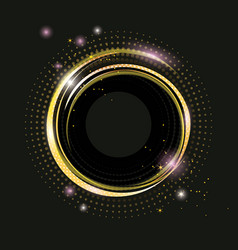thin golden frame with gold dust and lights vector image