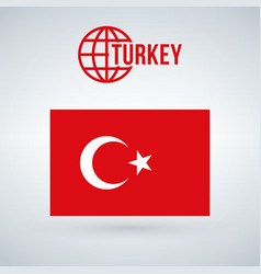 turkey flag isolated on modern background with vector image