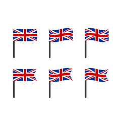 united kingdom flag icons set national symbol of vector image