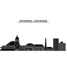 Usa wyoming cheyenne architecture city vector