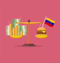 Venezuela hyperinflation concept vector
