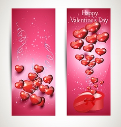 Vertical flyers with gift box vector